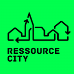 Presse neongrønt avatar/logo for Ressource City