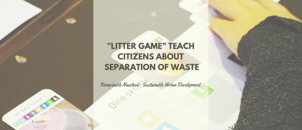 """""""Litter game"""" teach citizens about separation of waste"""